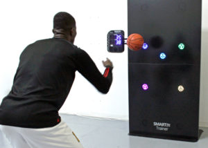Man using SMARTfit OS for Basketball Training