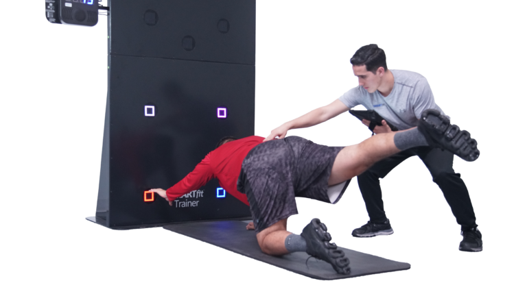 Man using SMARTfit OS for sports rehab