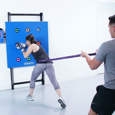Woman using SMARTfit OS for sports rehab