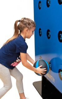 Youth girl using medicine ball with SMARTfit